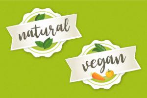 stylized writing: natural, vegan